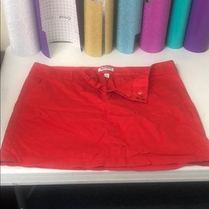 Old Navy, women's, size 16, red, chino, skirt